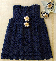 💙💙 that simple and delicate dress, I loved this model in crochet see step by step of that pattern good night