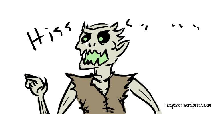drawlloween angry ghoul
