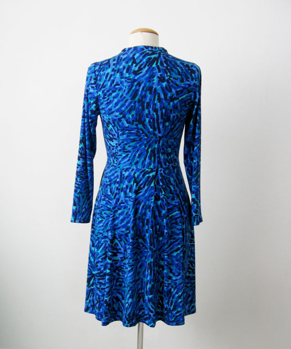 Pauline Alice Patterns Aldaia blue dress dress back on form