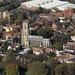 St Giles Church in Norwich - Norfolk aerial view