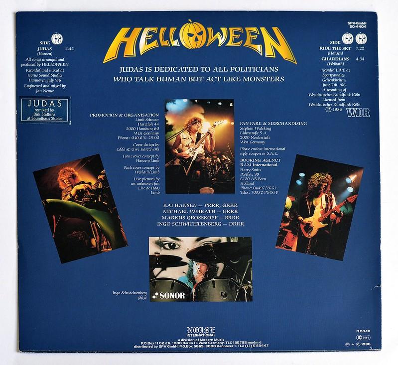 "HELLOWEEN Judas / Ride The Sky / Guardians 12"" EP ALBUM VINYL"