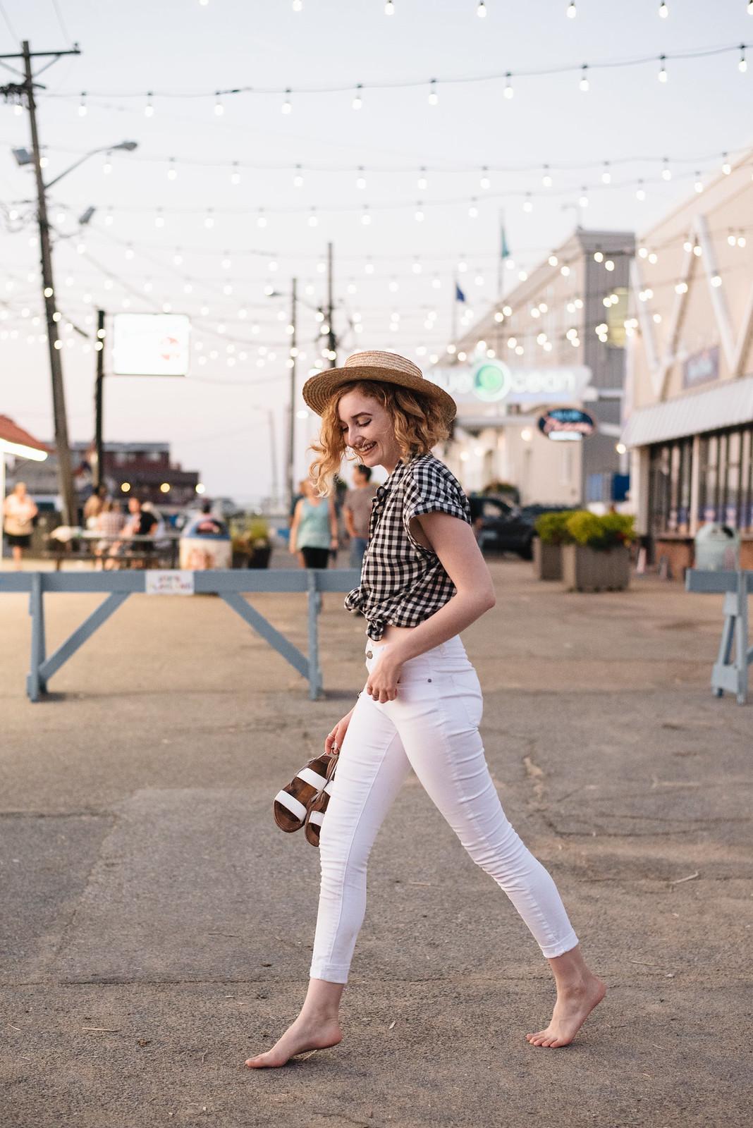 Gingham on the Boardwalk on juliettelaura.blogspot.com