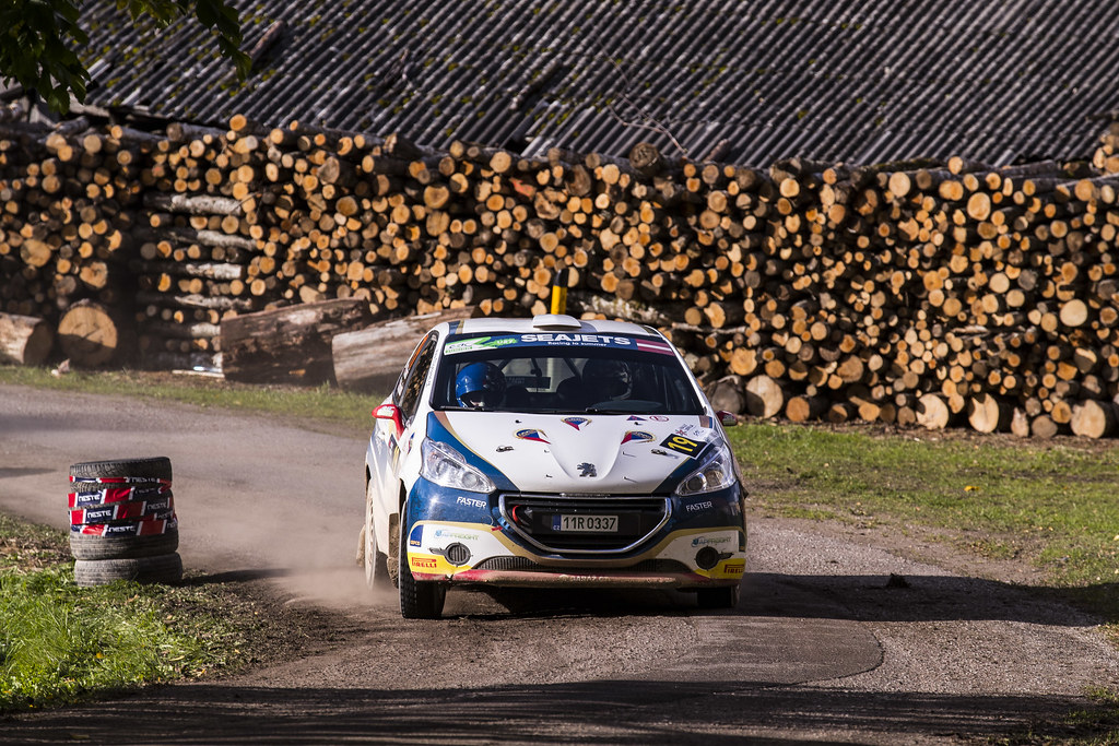 19 Mares Filip and Hlousek Jan, ACCR Czech Team, Peugeot 208 R2 ERC Junior U27 action during the 2017 European Rally Championship ERC Liepaja rally,  from october 6 to 8, at Liepaja, Lettonie - Photo Gregory Lenormand / DPPI