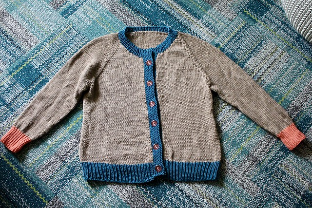 Tri-color cardigan for Mom