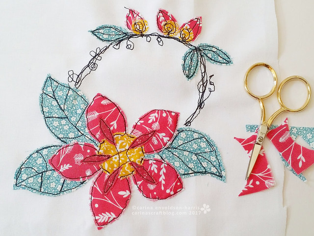 Flowers - machine embroidery