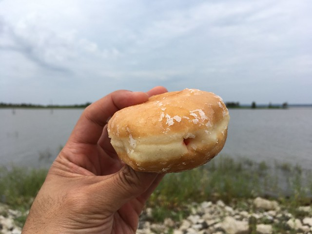 Strawberry filled donut - Shipley Do-Nuts