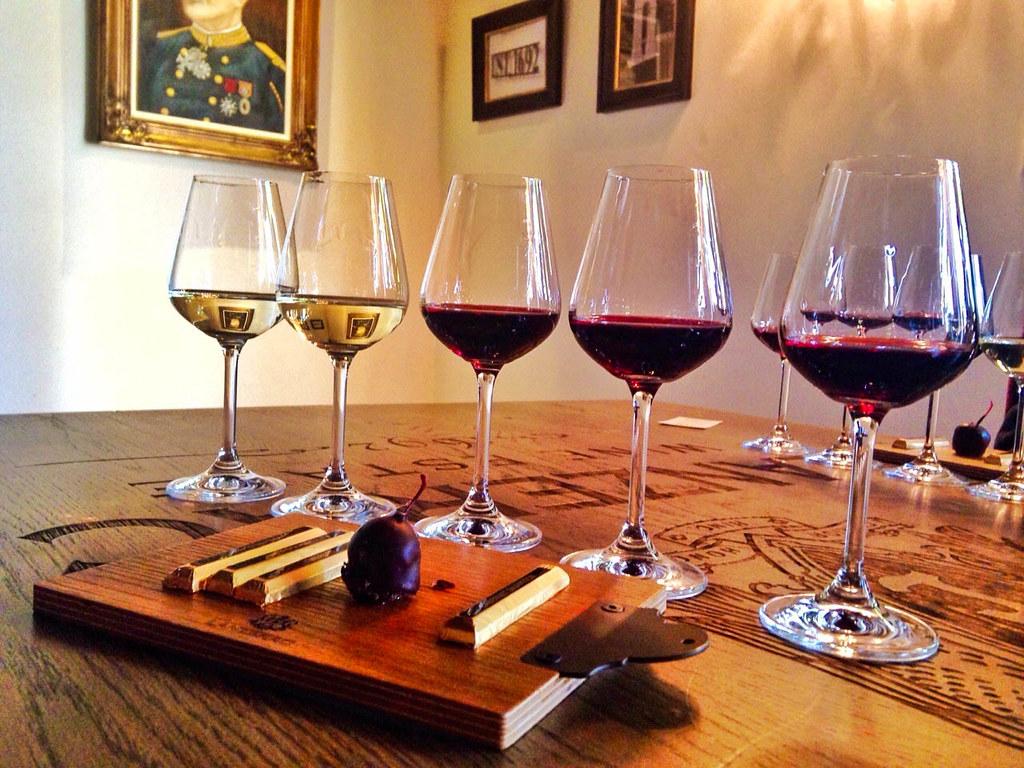 Vino y chocolate en Stellenbosch