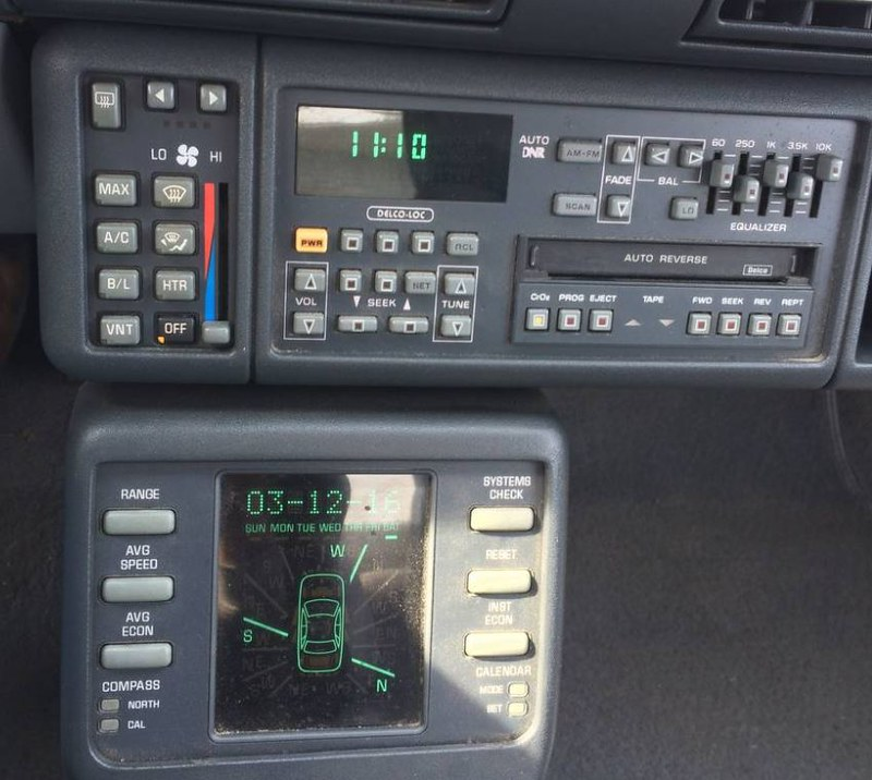 1991 Pontiac Grand Prix GTP radio and trip computer