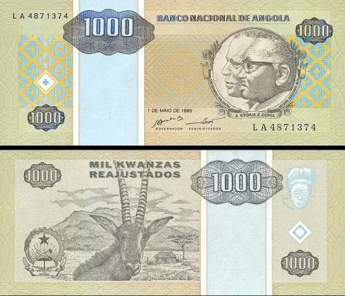 1000 Kwanzas Angola 1995 P135