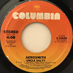 AEROSMITH:WALK THIS WAY(LABEL SIDE-B)