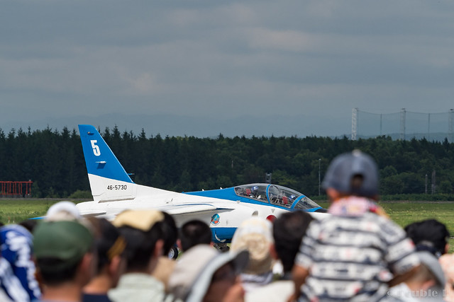 JASDF Chitose AB Airshow 2017 (116) Blue Impluse No.5 moving to another runaway