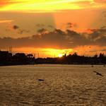 Firey sky over Preston Marina