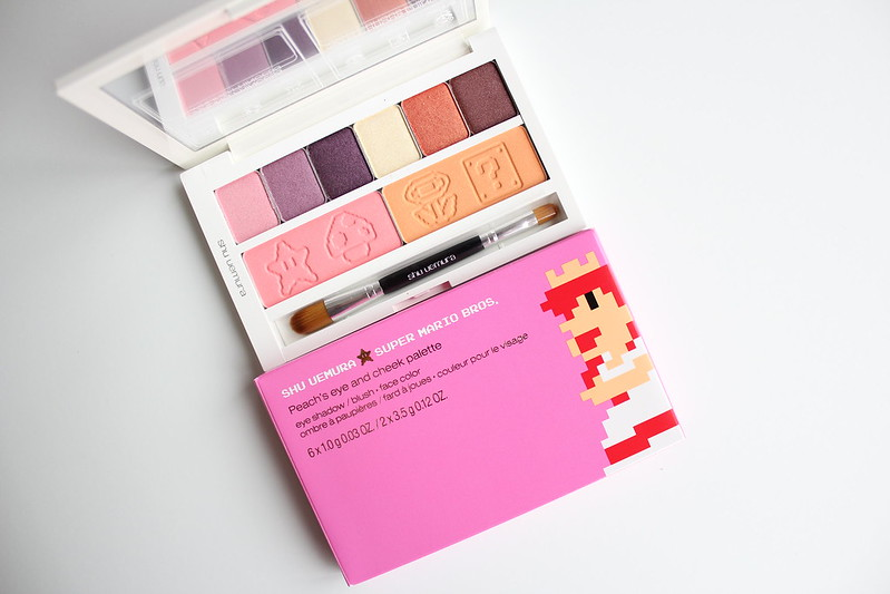 Shu Uemura x Super Mario Bros. collection for Holiday 2017 review and swatches