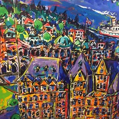 We are finding Vancouver very conservative more formalist. We are in expressionist camp. Christina refuses to compromise. I am adding more line to my paintings defining less painterly. As a 40 survivor of the Canadian art market if you don't listen to wha