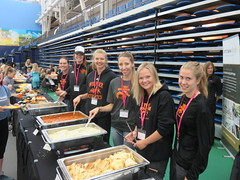 girls on the assembly line at Power of being a girl (Oct 18 2017)