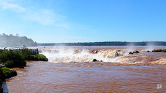 The violent rushing waters of Devil's Throat, Iguazú Falls