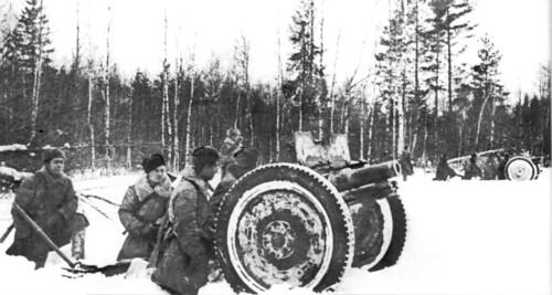 Soviet Battery f 76.2-mm Model 1927