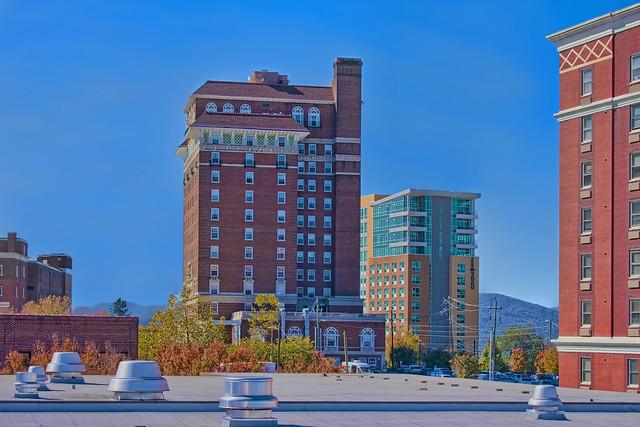 View of downtown Asheville, North Carolina, USA