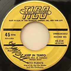 TITO PUENTE:CHA CHA CHA FOR LOVERS(LABEL SIDE-B)