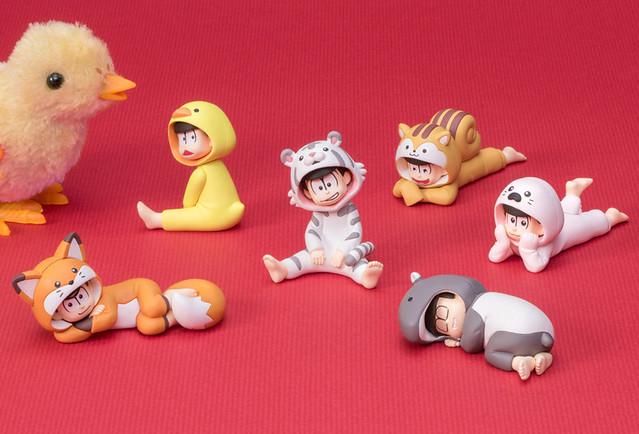 掌上夥伴系列 人氣六胞胎 《小松君》第二彈 「動物裝扮篇」!パルメイトぷち おそ松さん だらだら☆けものぱじゃま