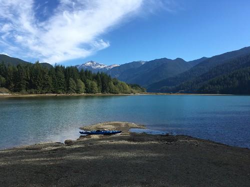 Kayaking on Baker Lake