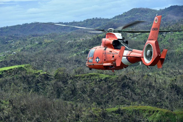Coast Guard helicopter crews deliver supplies in Puerto Rico