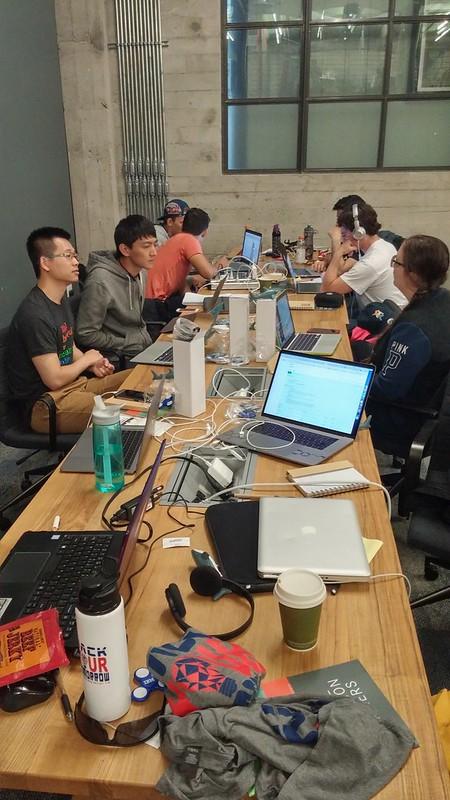 Typiskt hackathonbord