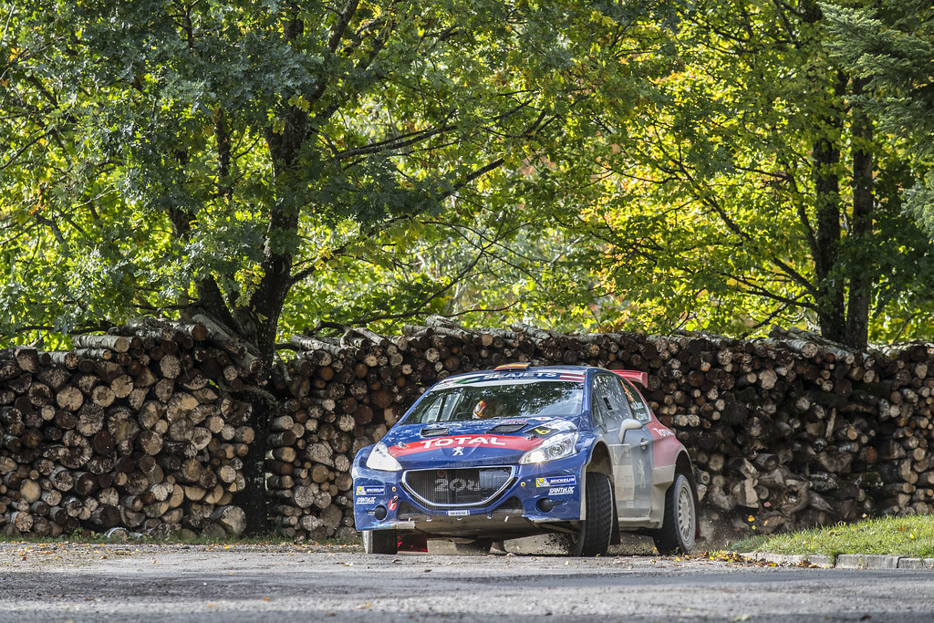 06 Suarez Jose Antonio and Carrera Candido, Peugeot Rally Academy, Peugeot 208 T16 ERC Junior U28 action during the 2017 European Rally Championship ERC Liepaja rally,  from october 6 to 8, at Liepaja, Lettonie - Photo Gregory Lenormand / DPPI