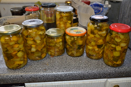 sweet cucumber courgette and pumpkin relish Oct 17 4