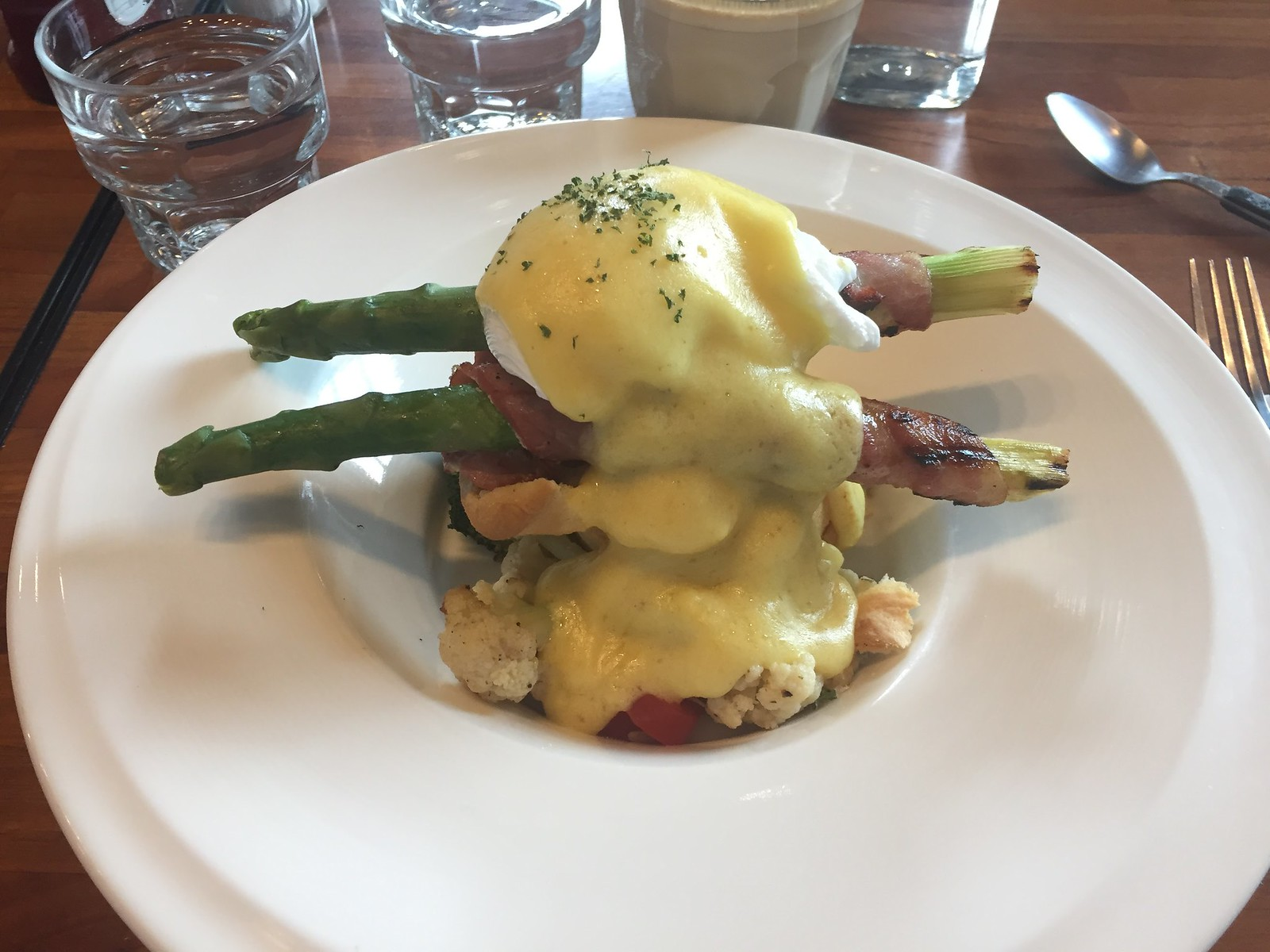 Eggs Benedict at Now & then