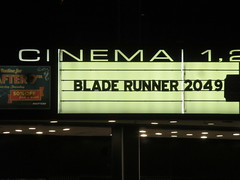 Blade Runner 2049 Theater Marquee 2017 NYC 2318