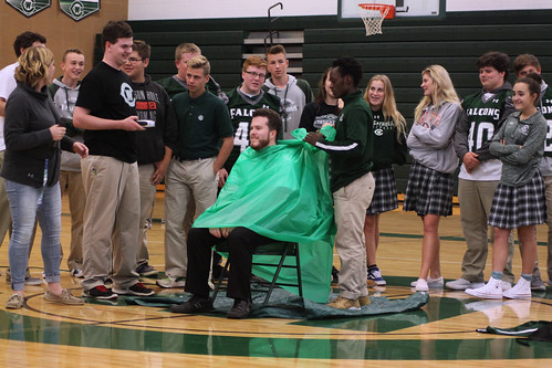 West Catholic HS chaplain buzzes his hair for All A's Walk