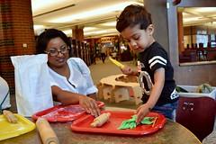 Sensory play dough at the Talk Station