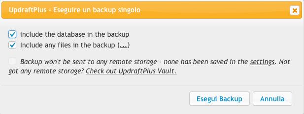 Come fare un backup wordpress 3