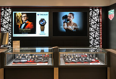Tag Heuer Backlit Fabric at Bloomingdales NY
