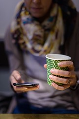 Coffee and smartphone