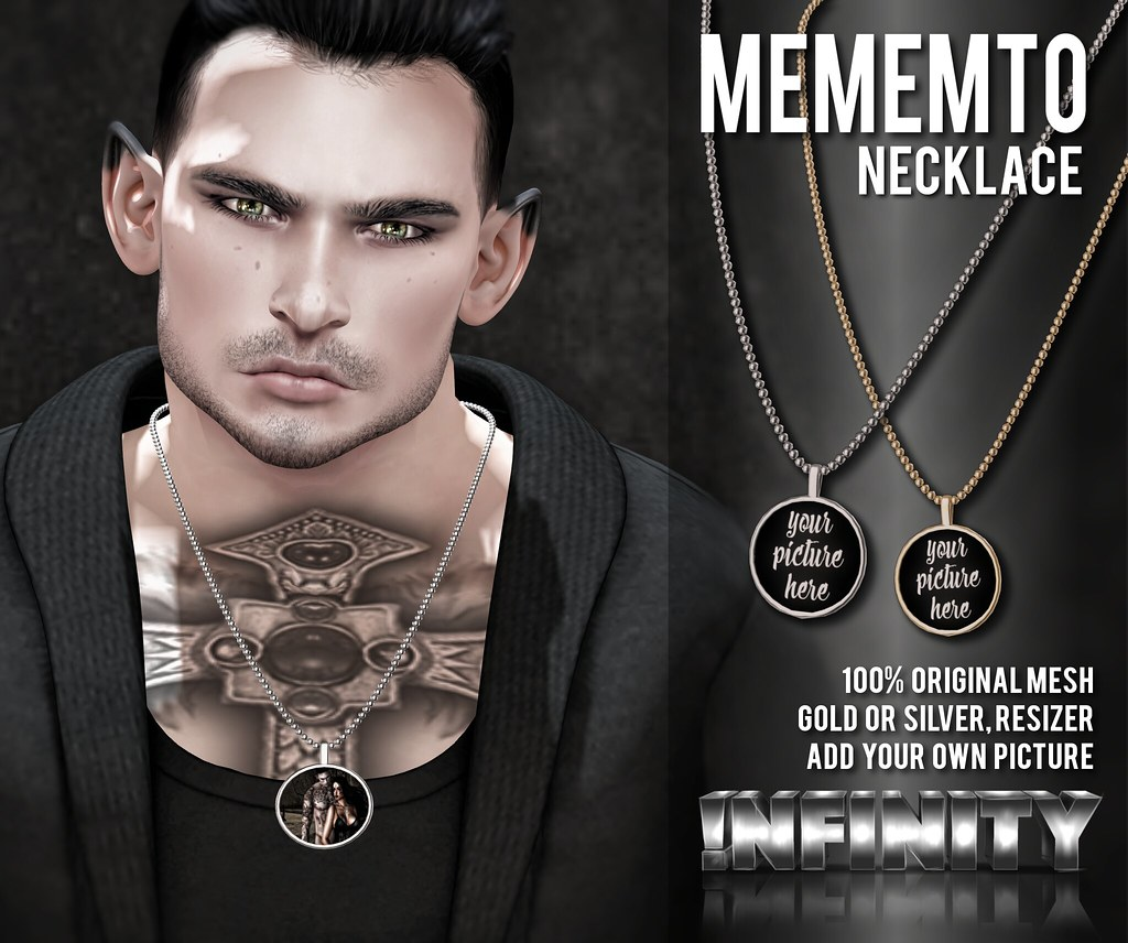 !NFINITY Mememto Necklaces @ Men Only Monthly - TeleportHub.com Live!