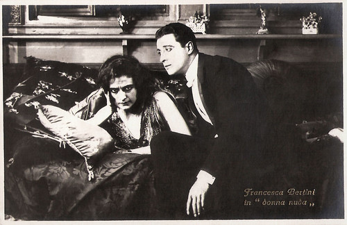 Francesca Bertini and Angelo Ferrari in La donna nuda (1922)