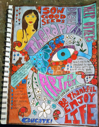 Enjoy Life Art Journal Page WM-1