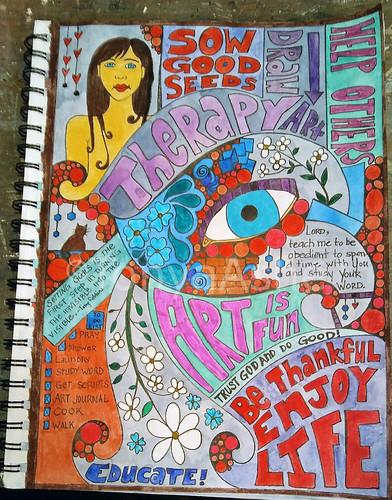 Enjoy Life Art Journal Page WM-1