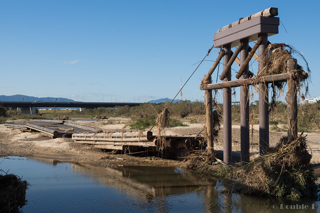 "broken Nagare-bashi (Koduya Bridge) - 流された""流れ橋"" (14)"