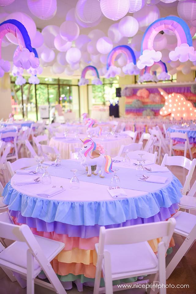 unicorn theme party table setup (3)