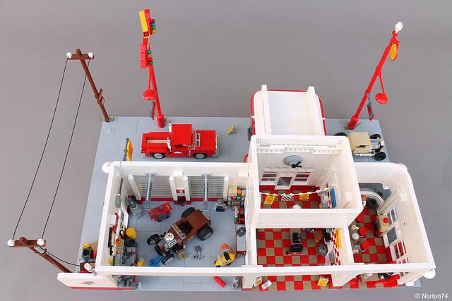 Art Déco Gas Station | top view