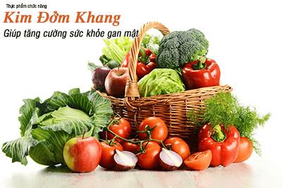 Ăn nhiều chất xơ trong rau xanh, hoa quả giúp ngăn ngừa nguy cơ mắc sỏi mật