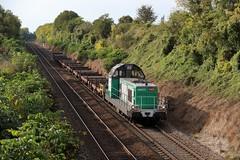 BB 69473 et rame vide pour transport de LRS - Photo of Grisy-sur-Seine
