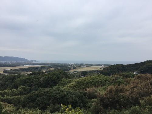 トスラブ館山ルアーナ ロビーのベランダから見た景色