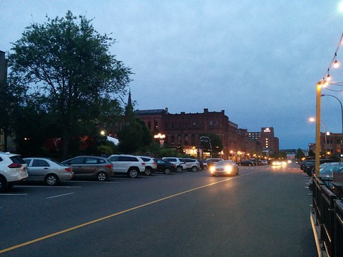 South down Queen Street #pei #princeedwardisland #charlottetown #confederationcentreofthearts #queenstreet #blue #twilight