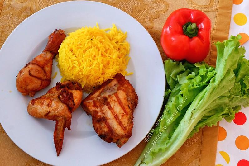 Chicken Rice and Grilled Chicken