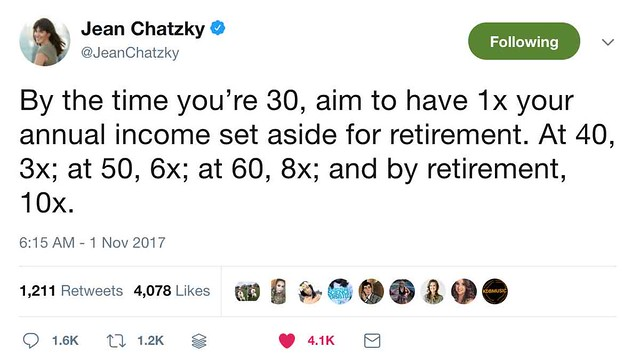 Jean Chatzky's retirement savings factor