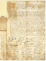 ASSI45-11-1-93 Petition by residents of Denby, Yorkshire, concerning accusations of witchcraft 1674